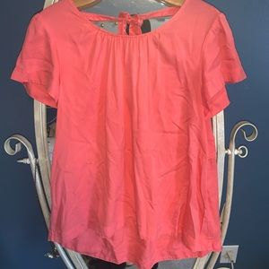 Pink Crown & Ivy blouse with tie in the back!!